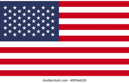 Flag of United States vector graphics