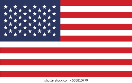 flag of united states vector icon illustration eps10