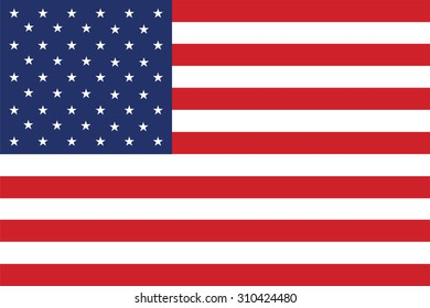 Flag of the United States. Vector illustration.