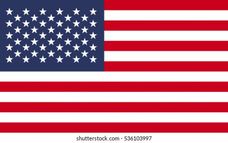 Flag of United States vector illustration
