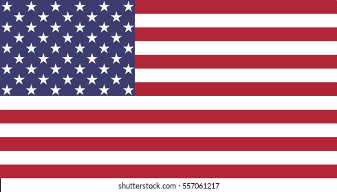 Flag of the United States , Vector Illustration
