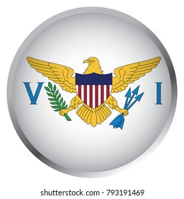 Flag of United States Virgin Islands (Round icon)