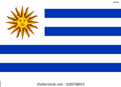 Flag of Uruguay. Symbol of Independence Day