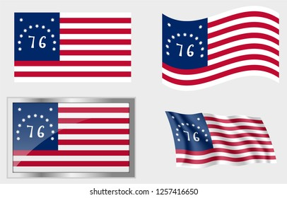 Flag of the US 13 Stars Bennington