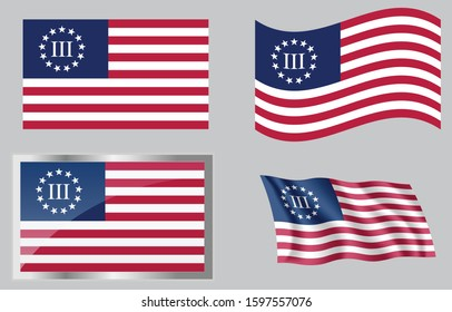 Flag of the US 3 Percenters