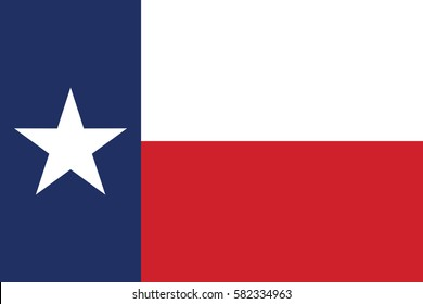 flag of the US state of Texas . Vector