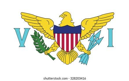 Flag of the U.S. Virgin Islands. Vector