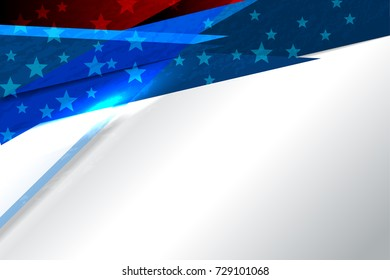 Flag of USA America background for Independence Day and other events, Vector illustration design