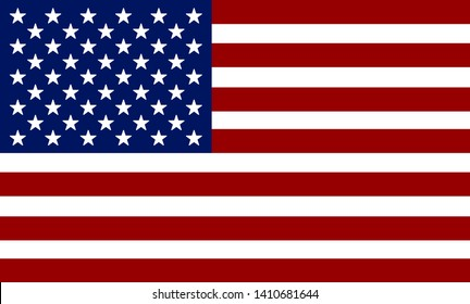 Flag of USA. American flag. Independence Day