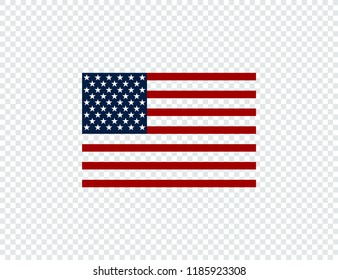 Flag usa. American flag. Flag USA on transparent background