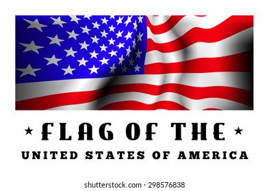 Flag of USA. Close up vector illustration