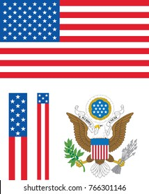Flag USA coat of arms vector