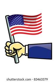 Flag of USA icon, vector