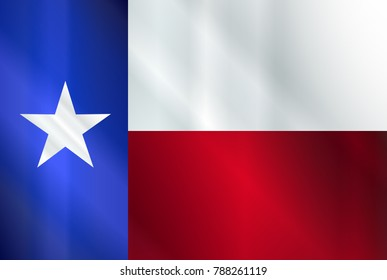 The flag of the USA state of TEXAS in glass style