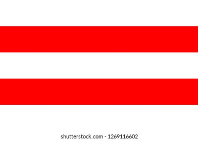 Flag of Usti nad Labem is the 7th-most populous city of the Czech Republic. Vector illustration