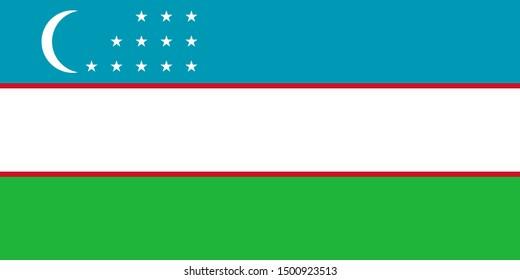 Flag of Uzbekistan a vector illustration