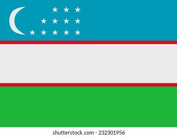Flag of Uzbekistan vector illustration