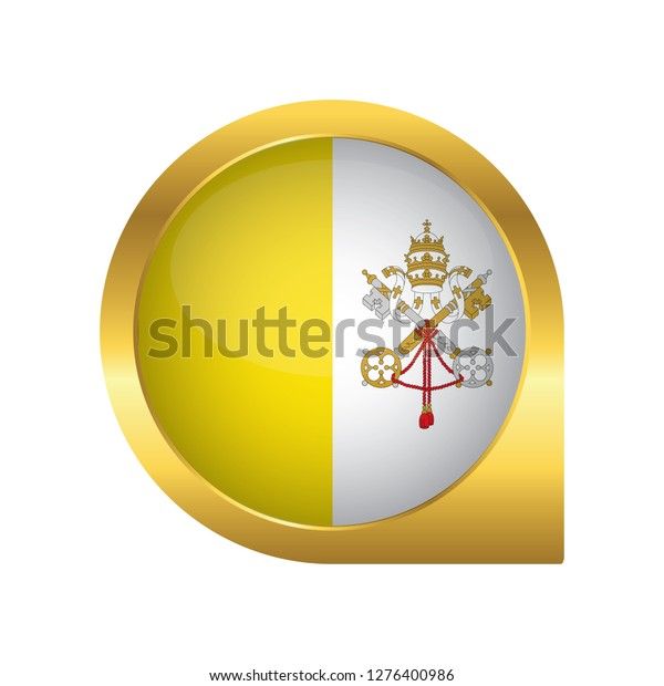 Flag Vatican City Location Map Pin Stock Vector (Royalty Free ...