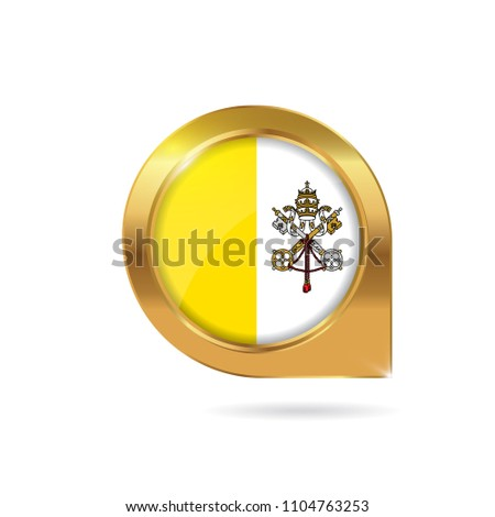 Flag Vatican City State Location Map Stock Vector (Royalty Free ...