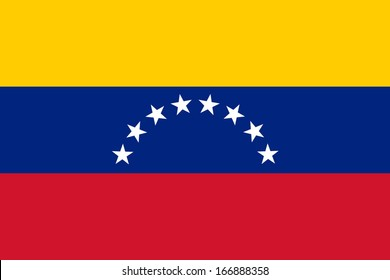 Flag of Venezuela. Civil variant. Vector. Accurate dimensions, element proportions and colors.
