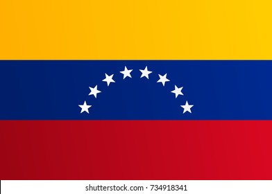 Flag of Venezuela with transition color - vector graphic