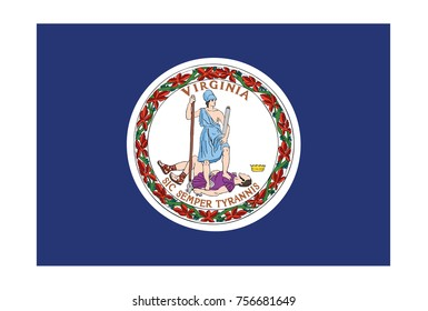 Flag of Virginia. Vector illustration.