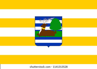 Flag of Vukovar-Srijem County is the easternmost Croatian county. Vector illustration