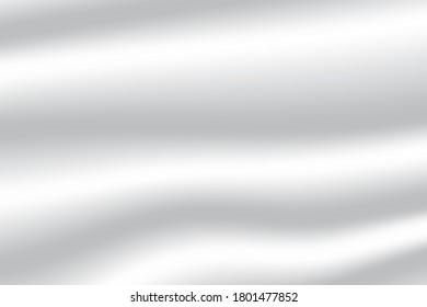 Flag wave white satin template. EPS.file.