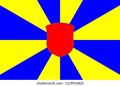 Flag of West Flanders is the most western province of the Flemish Region, in Belgium. Vector illustration
