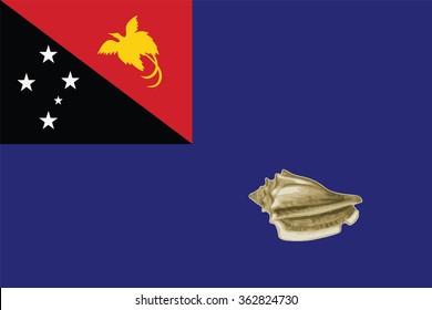 Flag of West New Britain provinces,autonomous region,district of Papua New Guinea. Vector illustration.