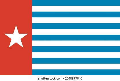 Flag of West Papua in Editable Vector Format