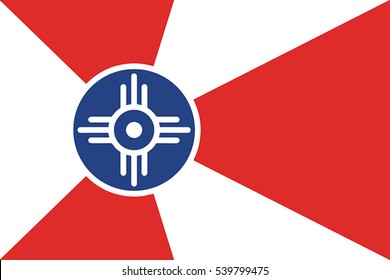 Flag of Wichita, Kansas, USA. Vector Format