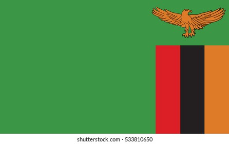 flag of zambia vector icon illustration eps10