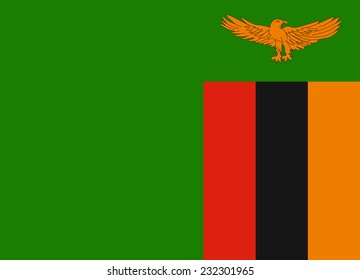 Flag of Zambia vector illustration