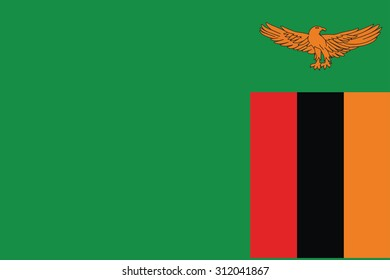 Flag of Zambia. Vector illustration.