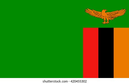Flag of Zambia vector image