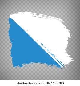 Flag of Zurich brush strokes. Flag of  Zurich on transparent background for your web site design, app, UI. Switzerland. EPS10.