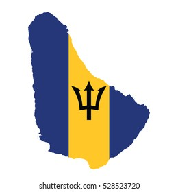 Flag-map of Barbados