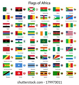 Flags of Africa vector set