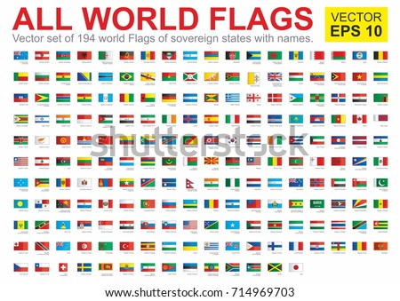 flags all countries world all sovereign のベクター画像素材