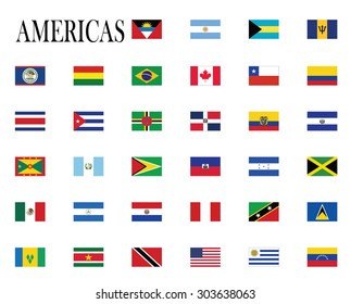 flags of America vector illustration
