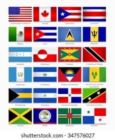 Flags of the Americas. Part 1