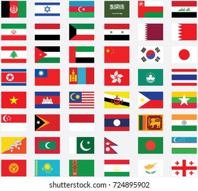 Flags of Asia . Flags of Asian
