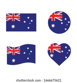 flags of Australia, vector icon Illustration