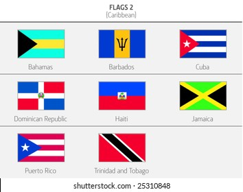 Flags of Caribbean Countries 2
