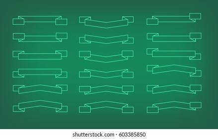 Flags contour vector set