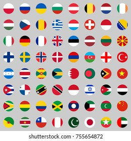 Flags of the countries of the world, a large set of flags of different countries. Flat design, vector illustration, vector.
