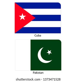 Flags of Cuba and Pakistan