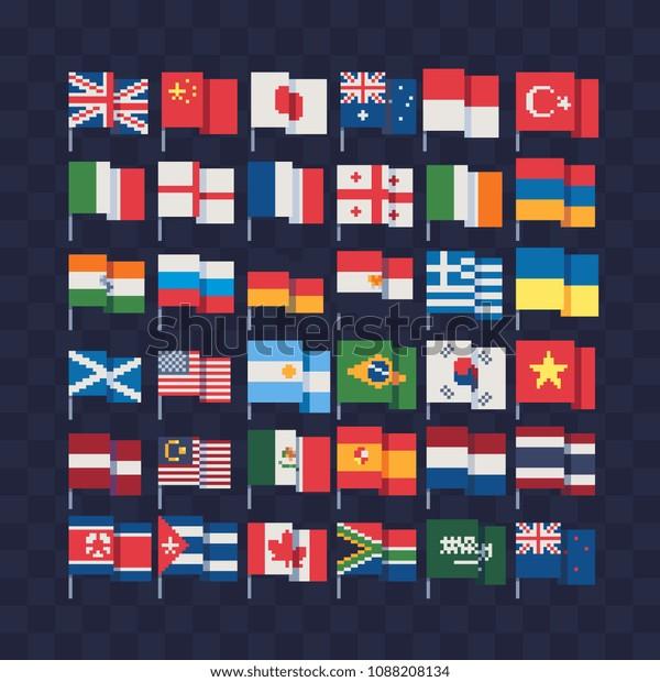 Image Vectorielle De Stock De Flags Different Countries On