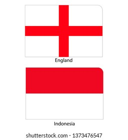 Flags of England and Indonesia